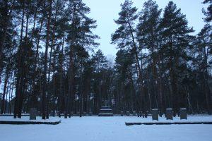 На мемориальном кладбище в Дубровинке