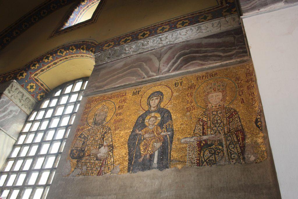 Мозаичное панно в Святой Софие в Стамбуле