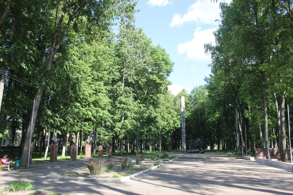 Ельня, сквер