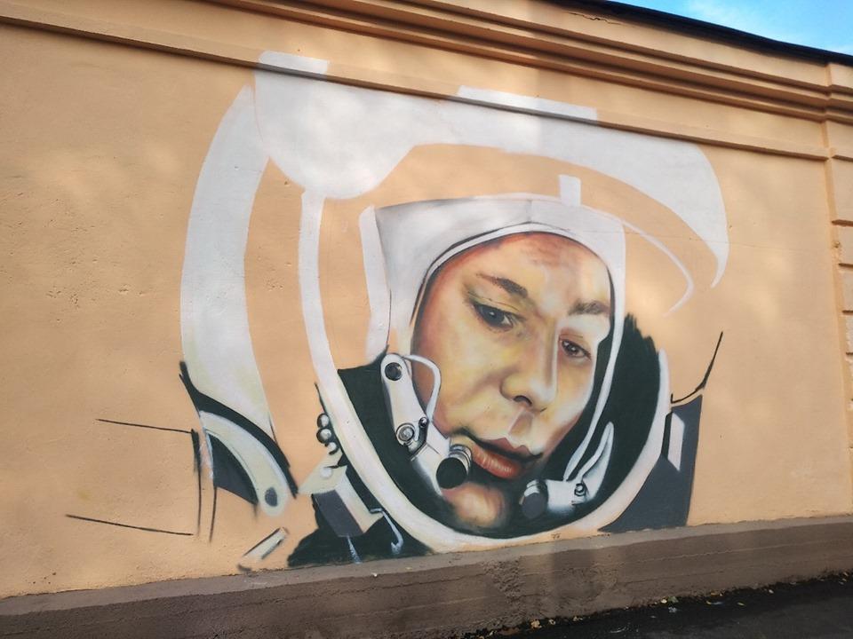 Новое граффити с изображением Юрия Гагарина в Смоленске / Фото: smolensk-guide.com